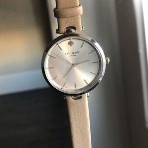 Kate Spade Taupe/Silver slim watch